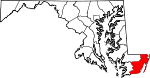 Map of MD Worcester County